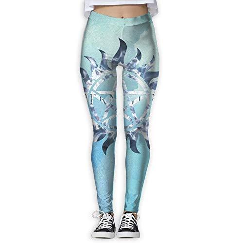 wwoman Pantalon de survêtement Sexy Supernatural Yoga Pant Pantalon Full Print,S