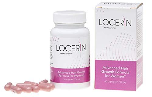 LOCERIN Premium, against hair loss in women, for beautiful, long, healthy and shiny hair, effectively promotes hair growth, strengthens the structure and hair color, 60 Capsules / 720 mg