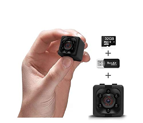 Hidden Camera | Mini Wireless Cop Cam 1080P | Wearable Body Action Cam for Indoor/Outdoor, Home, Office | Security Camera | Night Vision | Motion Detection | 32GB Memory | Built-in Battery
