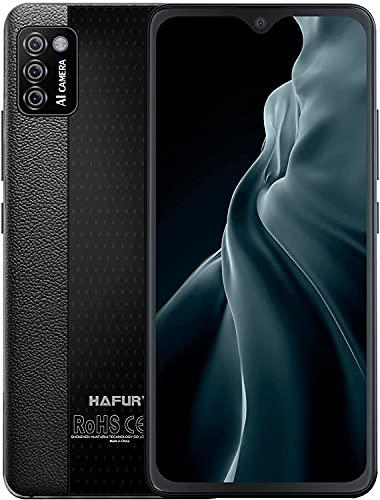 HAFURY Teléfono móvil 4G sin contrato, Android 10, pantalla de 5,5 pulgadas, 2 + 16 GB, 128 GB ampliable, triple cámara, color negro
