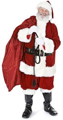 Weihnachtsmann mit Sack - Weihnachten LEBENSGROSSE PAPPFIGUREN / STEHPLATZINHABER / AUFSTELLER