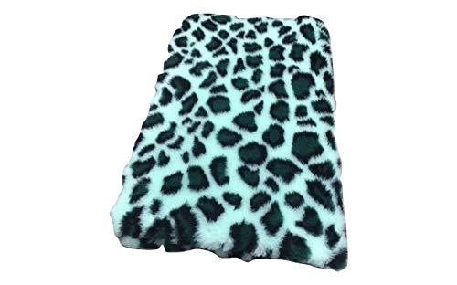 Vetbed originele Premium I luipaard mintgroen-groen I 75 x 100 cm