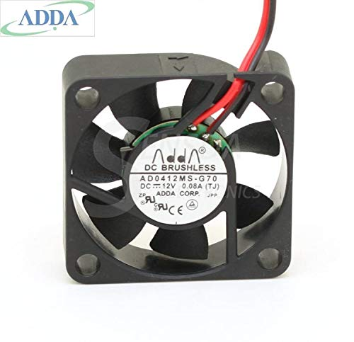Original FOR ADDA AD0412MS-G70 cooling Fans 4CM 4010 12V 0.08A best quiet silent cpu cooler heatsink axial cooler