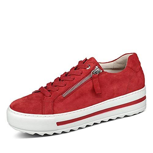 Gabor Zapatillas bajas para mujer, con inserto suelto, ligeras y varias tallas (G), color Rojo, talla 42 EU
