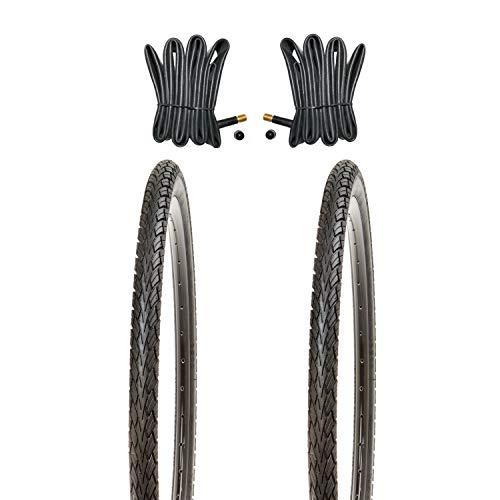 Kujo 2X 28 Zoll Fahrradreifen Set 700x40c Resul 42-622 inkl. Schlauch AV