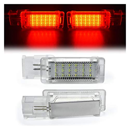 Summer solstice LED Footwell Light Luggage Compartment Glove Box Lamp Fit For Seat Ateca Alhambra Skoda Rapid Superb VW Golf 5 6 Caddy Passat B6 B7 (Emitting Color : Passion red)