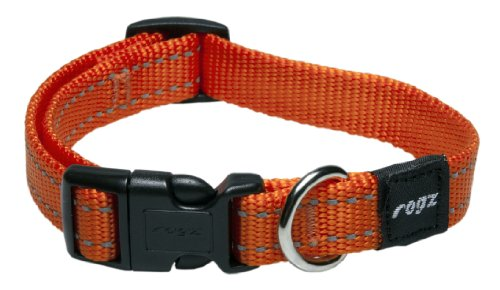 Reflective Dog Collar for Medium Dogs, Adjustable from 12-17 inches, Orange