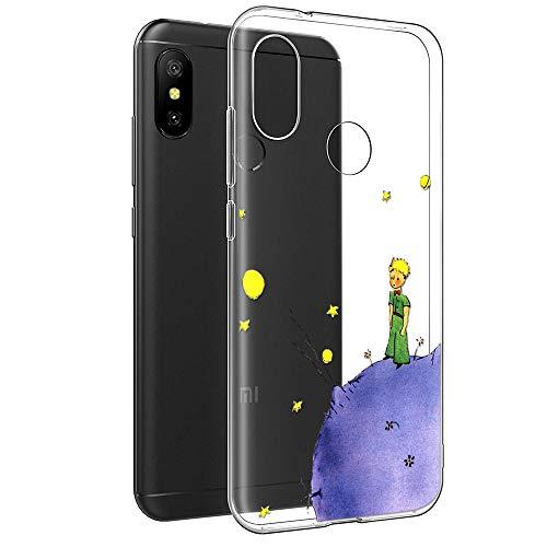 Cover Xiaomi Mi A2 Lite, YOEDGE Antiurto Custodia Trasparente con Disegni [The Little Prince] Ultra Slim Protective Case Bumper in TPU Silicone per Xiaomi Mi A2 Lite Smartphone(Porpora)