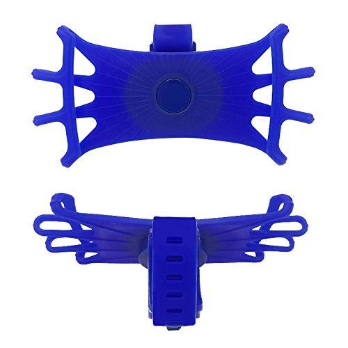 Qivor 1pc Universal Bicycle Soporte de teléfono móvil Silicona Motocicleta Bicicleta Manillar Montaje Soporte Soporte de Soporte de teléfono (Color : Blue)