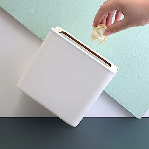 xiaodou Papeleras Rectángulo de Escritorio Papelera Bote de Basura, plástico minúsculo pequeño Basura Oficina encimera encimera Can Papelera Bote de Basura