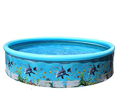 LQ-MAOZI Piscina para bebés de 8 pies, Juguetes para Piscinas, inflables, Familiares, pequeñas, Gruesas, para niños, rociadores con Almohadilla para Salpicaduras,Blue
