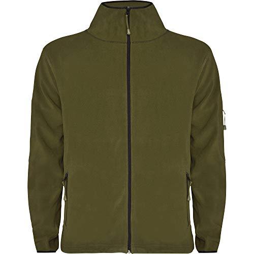 Herren Fleecejacke Übergangsjacke in Army Green Größe: XL