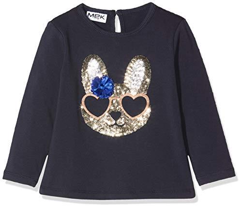 MEK baby-meisjes T-shirt Jersey Stretchi Con Pailletten shirt met lange mouwen