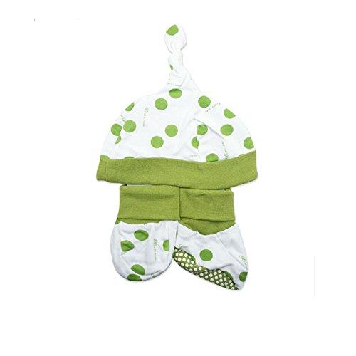 CuteOn Nouveau née Coton Casquette Mignonne Chaussettes - Bébé douche Cadeau Ensemble pour Garçons et Filles Pea 0-6 Mois