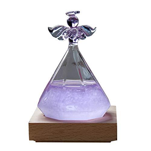 UEXCN Wetterstation aus Glas in Diamantform, Wettervorhersage, Glasflasche, Dekoration für Zuhause