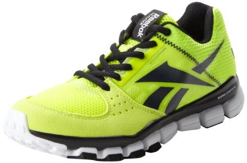 Reebok Realflex Transition Shoe (Little Kid/Big Kid),Neon Yellow/Black/White,3 M US Little Kid