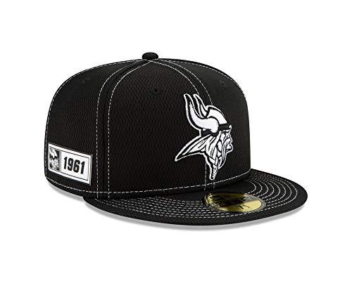 New Era Baseball Cap 59FIFTY Minnesota Vikings NFL2019 Black schwarz Fan Cap Gr. 7 3/8