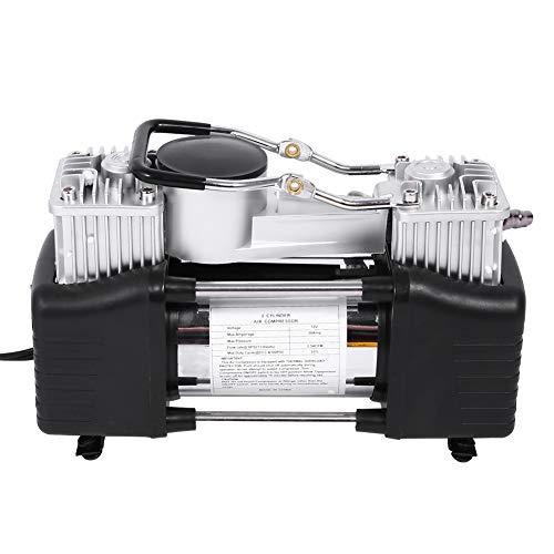 Kompressor 12V, Auto Luftkompressor mit Tragetascheche Mini Kompressor Auto Elektrische Luftkompressor Kompressor Pumpe Hochleistung Metallpumpe mit Direktantrieb und Verlängerungsluftschlauch