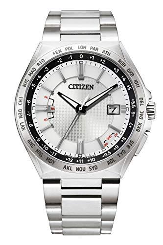 [シチズン] 腕時計 アテッサ エコ・ドライブ電波時計 ダイレクトフライト ACT Line CB0210-54A メンズ シルバー