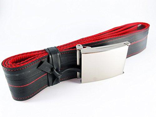 Gürtel aus Fahrradschlauch // rot