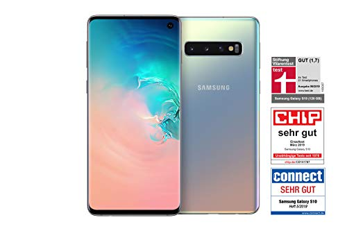 Samsung Galaxy S10 Smartphone (15.5cm (6.1 Zoll) 128 GB interner Speicher, 8 GB RAM, Prism Silver) - [Standard] Deutsche Version