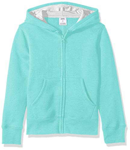 Amazon Essentials Fleece Zip-up fashion-hoodies, Aqua, XS (4-5)