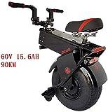 Las últimas Deluxe Monociclo eléctrico, scooter eléctrico for Adultos 25 kilometros 18 pulgadas de doble 1000w Motors Velocidad máxima / h Vespa eléctrica plegable de la batería Li-Ion UltraLight pleg