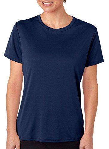 Hanes Sport Women's Short Sleeve Cool DRI Performance Tee, Navy, XX-Large