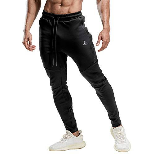 Samy ジョガーパンツ メンズ トレーニングパンツ ジム フィットネス スポーツウェア スリム スウェットパンツ ロングパンツ CK-1050 ブラック M