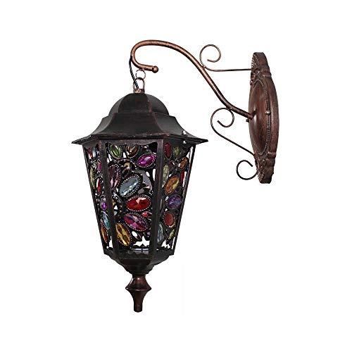 WZXCAP balkon trappenhuis wandlamp lichtbron vintage in de vrije wandlamp E14 Retro ijzeren vaardigheid sieraden wandlamp creatieve tuinlamp