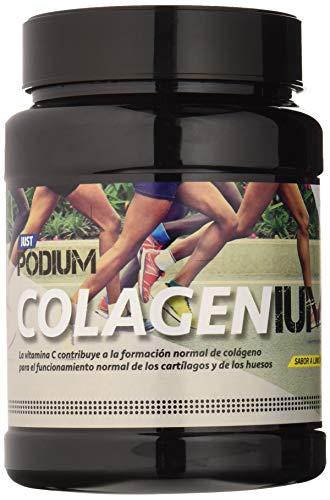 Just Podium Colagenium 600, Colágeno Hidrolizado + Magnesio + Ácido Hialurónico + Vitamina C + Vitamina a + 100% Natural, Sabor Limón, 600 g
