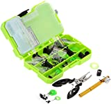 PagKis 10 in 1 Assorted Fishing Tackle Box Set Accessories Kit with Tied Hook Device and Fishing Plier