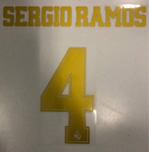 Flock Original Real Madrid Trikot 25cm - Sergio Ramos 4