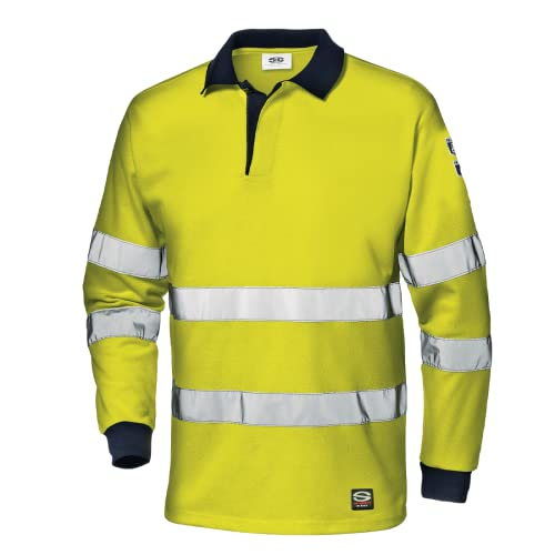 Sir Safety System MC6215EDM Supertech - Polo (Talla M), Color Amarillo y Azul