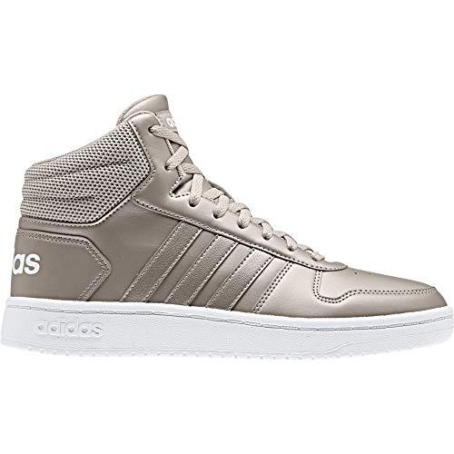 adidas Damen Hoops 2.0 Mid Basketballschuhe, Mehrfarbig Metpla/Ftwbla 000, 41 1/3 EU
