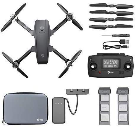 Holy Stone HS720 4K Drone,with 2 Batteries, Spare Propellers and Carrying Case
