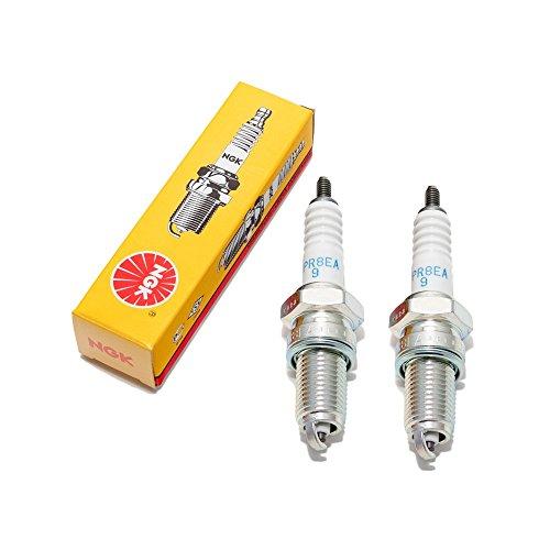 NGK Set 2 x candele di aensione DPR8EA-9 per Cagiva Elefant/Grand Canyon/Ducati Monster/MH/ VT/NT/XRV/XLV/ GS/VS/VZ/ Speed Master/America/BONNEVILLE/Thruxton/Scrambler/YAMAHA XTZ/TDM/TRX/XV