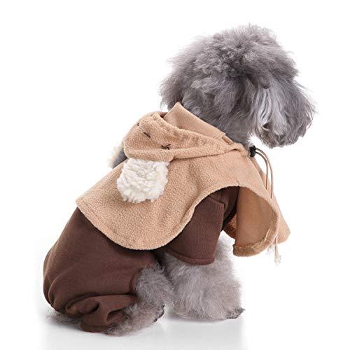 GBY Huisdier hond verkleedt, huisdier jurk Kerstmis hond kleding, Halloween huisdier kleding, verkleden zijs, hekskostuum, Medium, bruin