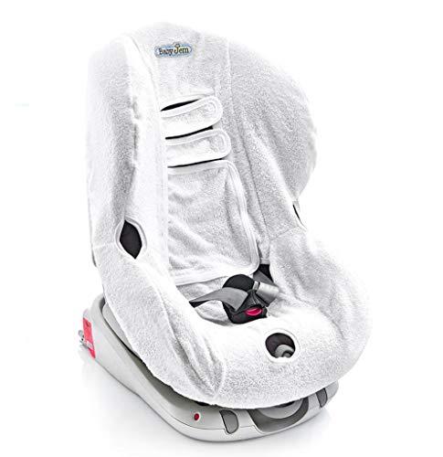 BabyJem 1110751 Kinderautositz Schonbezug, weiß, 1 stück