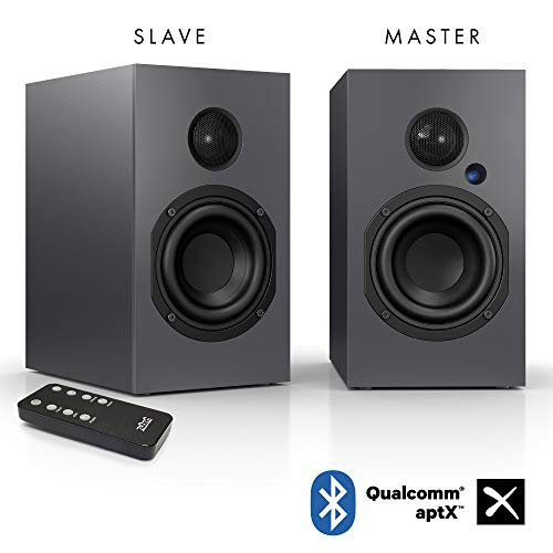 Nubert nuBox A-125 Regallautsprecher   Lautsprecher für Musikgenuss   Heimkino & HiFi Qualität auf hohem Niveau   aktive Regalboxen mit 2 Wege Technik   digitales Kompaktlautsprecherset Grau   2 Stück