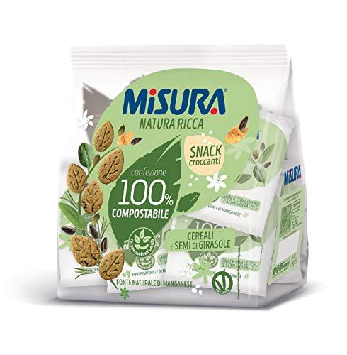 Misura Snack Croccanti Natura Ricca con Cereali e Semi di Girasole | Confezione da 224 grammi