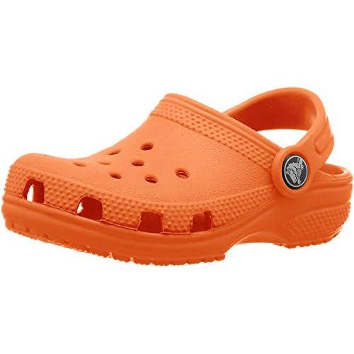 Crocs Classic Clog K, Zoccoli Unisex-Bambini, Tangerine, 19 EU