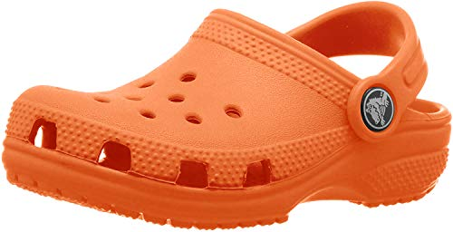 Crocs Kids' Classic Clog | Slip On Shoes for Boys and Girls | Water Shoes, Tangerine, J5 US Big Kid