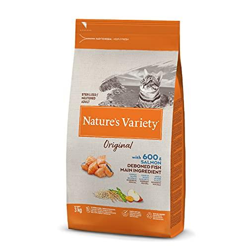 Nature's Variety Original - Pienso para gatos esterilizados con salmón sin espinas 3 Kg