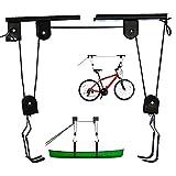 Soporte Bicicleta Suspensión de 57 kg de Carga, Colgar bicicleta techo, Elevador de Bicicletas, Soporte para Bicicleta, Elevador de Garaje para Cajas de Techo