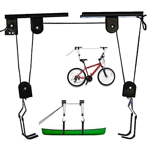 Support vélo Plafond, Robuste Range vélo à Poulies Charge 57 kg, Support vélo Rangement vélo Plafond, Rangement Porte-vélo Ascenseur