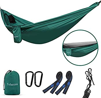 Tolaccea Camping Hammock with Self-Supporting Mosquito Net