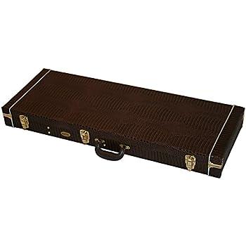 Maletín de cocodrilo rectángulo de alta calidad para guitarra eléctrica Stratocaster + Tele 2016: Amazon.es: Instrumentos musicales