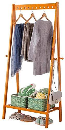 Bastidores abrigo, madera de cuatro perchero gancho de pie, perchero para colgar el pasillo, utilizado para bolsos, ropa y accesorios,Brown