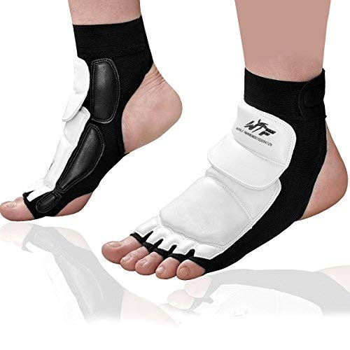 Kitchnexus - Taekwondo Fußschoner / Knöchelbandage für Kampfsport, Boxsack, Sparring, Training, MMA, UFC, Thi, M